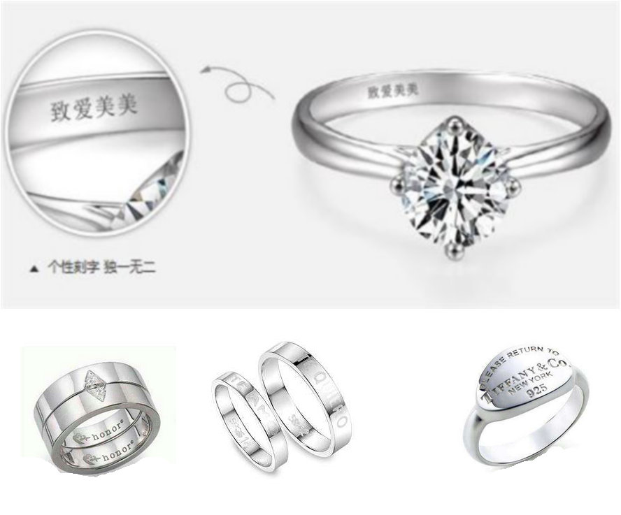 jewelery laser marking sample